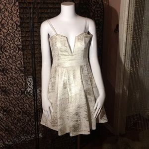 Silver gold cocktail dress